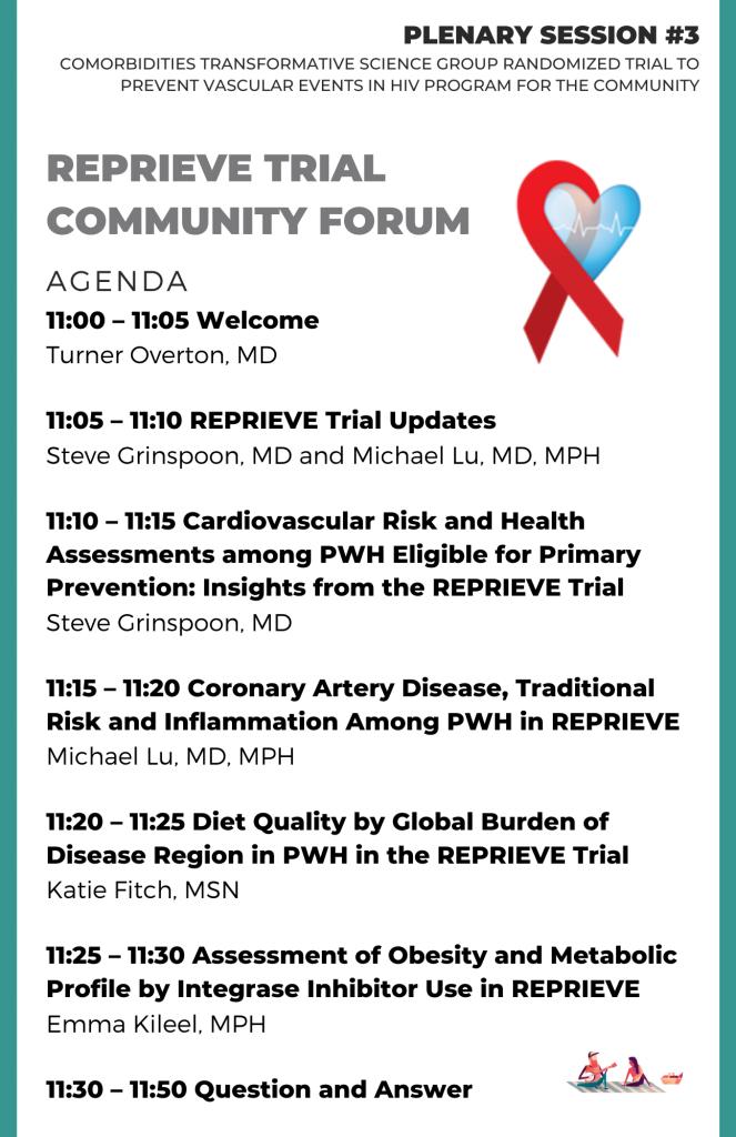 REPRIEVE Community Forum Agenda